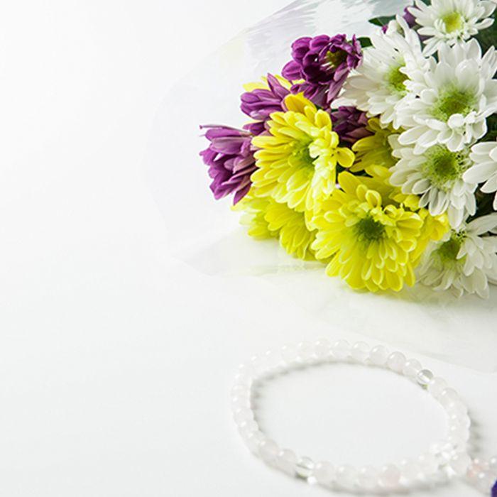花束と数珠